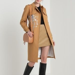 🍒NWT🍒 TED BAKER EMBROIDERED TRENCH COAT